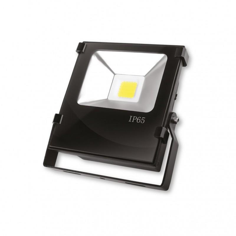 EUROELECTRIC LED COB Прожектор чёрний с радиатором 20W 6500K modern