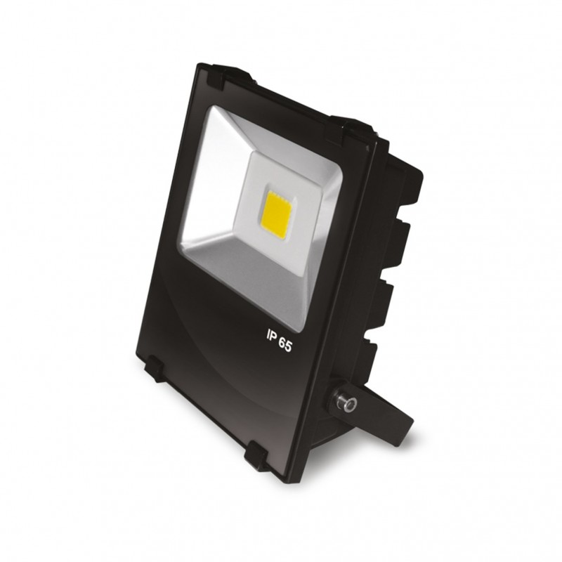 EUROELECTRIC LED COB Прожектор чёрний с радиатором 30W 6500K modern
