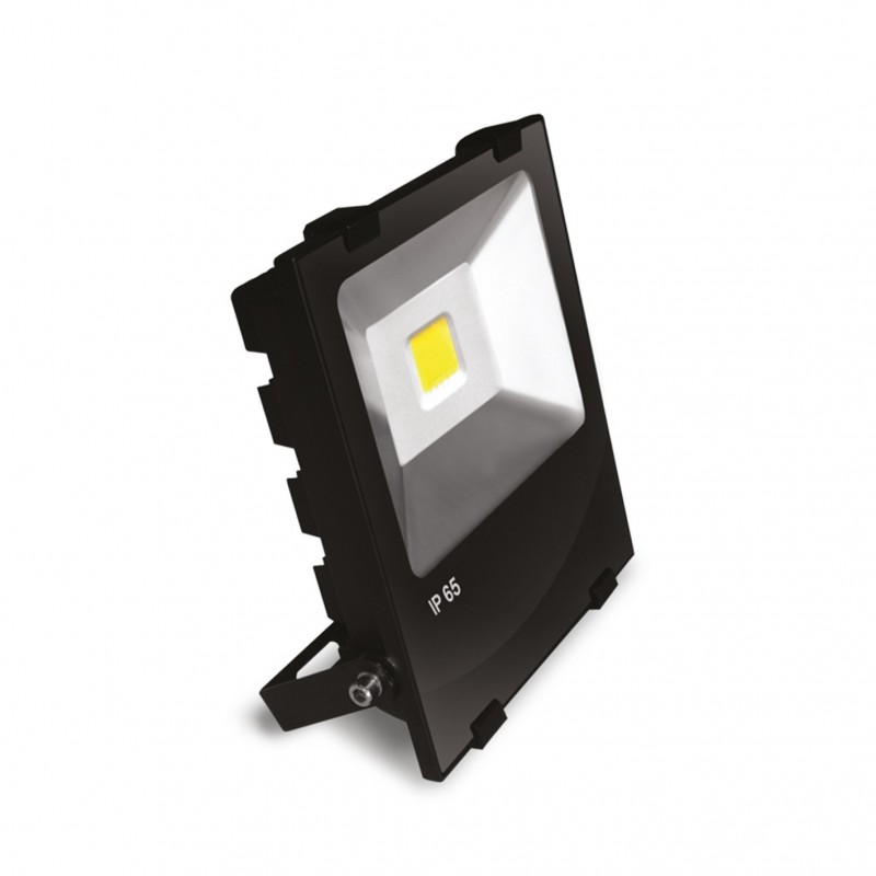 EUROELECTRIC LED COB Прожектор чёрний с радиатором 50W 6500K modern