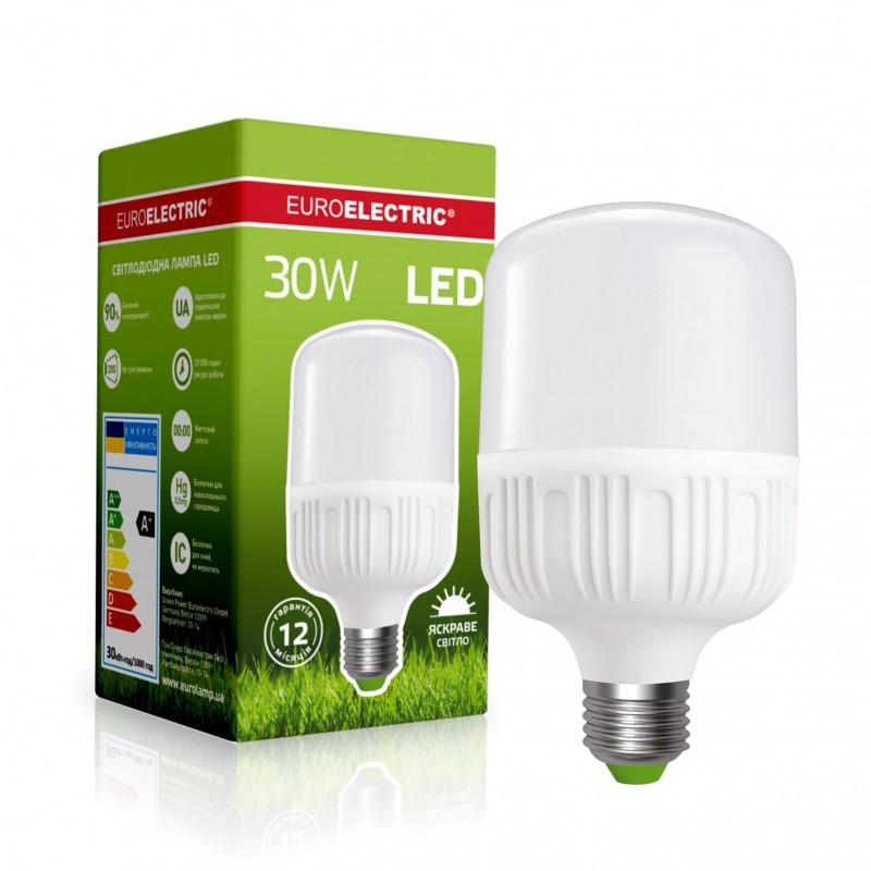 EUROELECTRIC LED Лампа высокомощная 30W E27 4000K