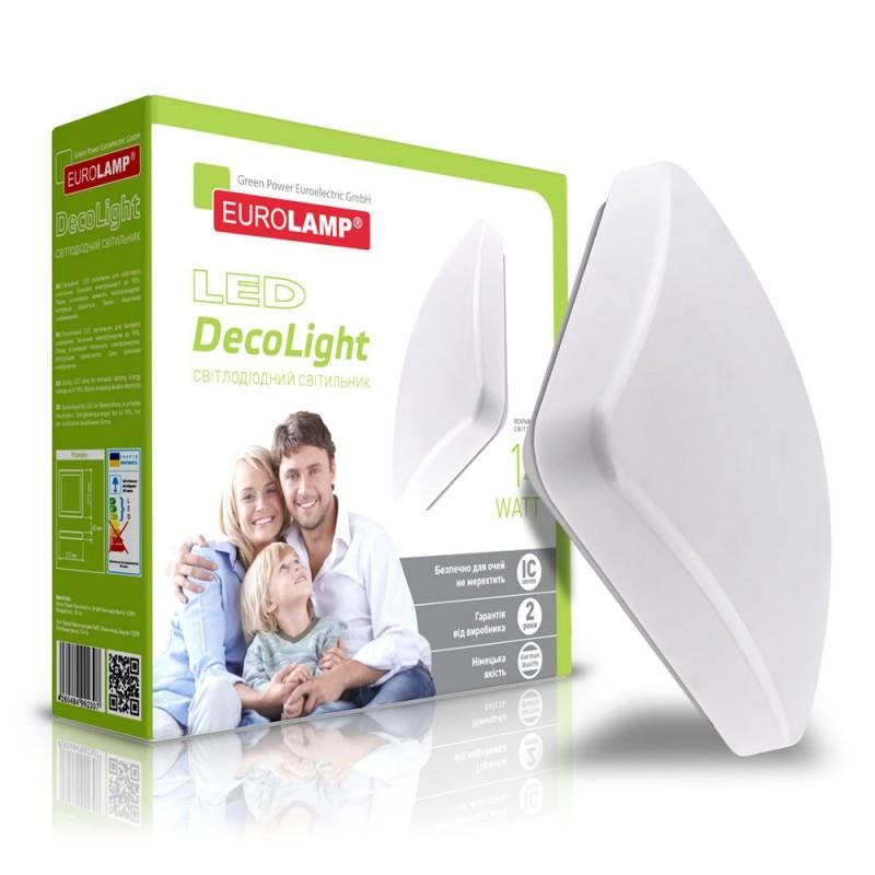 EUROLAMP LED Светильник квадратный накладной Decolight 14W 4000K
