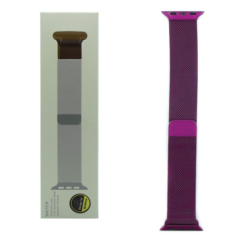 Ремешок для Apple Watch Milanese loop 42mm, purple