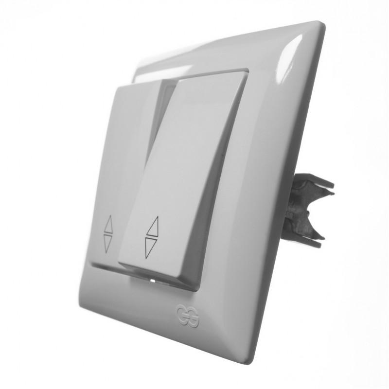 Выключатель двухклавишный GUNSAN проходной Visage белый